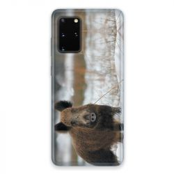 Coque pour Samsung Galaxy S20 chasse sanglier Neige