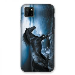 Coque pour Huawei Y5P Cheval Noir
