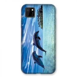 Coque pour Huawei Y5P Dauphin Ile