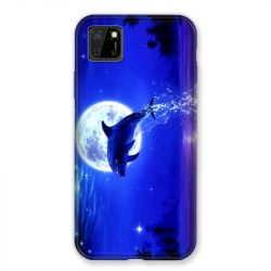 Coque pour Huawei Y5P Dauphin Lune