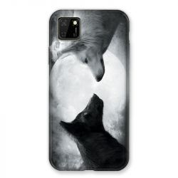 Coque pour Huawei Y5P Loup Duo