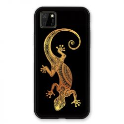 Coque pour Huawei Y5P Animaux Maori Lezard Noir