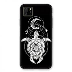 Coque pour Huawei Y5P Animaux Maori Tortue Noir