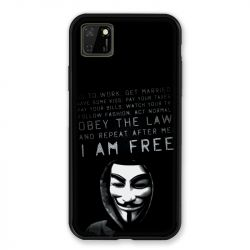 Coque pour Huawei Y5P Anonymous I am free