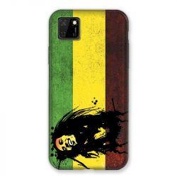 Coque pour Huawei Y5P Bob Marley Drapeau
