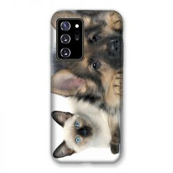 Coque pour Samsung Galaxy Note 20 Ultra Chien vs Chat
