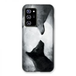 Coque pour Samsung Galaxy Note 20 Ultra Loup Duo