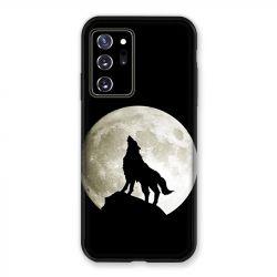 Coque pour Samsung Galaxy Note 20 Ultra Loup Noir
