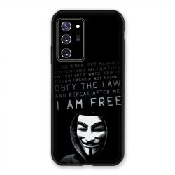 Coque pour Samsung Galaxy Note 20 Ultra Anonymous I am free