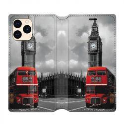 housse Cuir Portefeuille Pour Iphone 12 Mini Angleterre London Bus