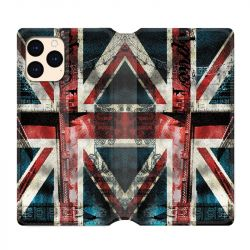 housse Cuir Portefeuille Pour Iphone 12 Mini Angleterre UK Jean's