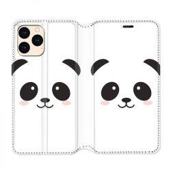housse Cuir Portefeuille Pour Iphone 12 Mini Panda Blanc