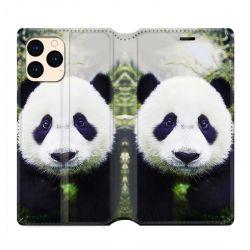 housse Cuir Portefeuille Pour Iphone 12 Mini Panda Color