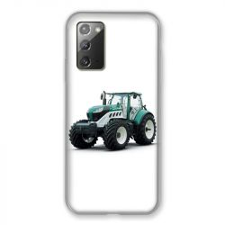 Coque pour Samsung Galaxy Note 20 Agriculture Tracteur Blanc