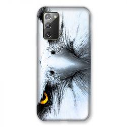 Coque pour Samsung Galaxy Note 20 Aigle Royal Blanc