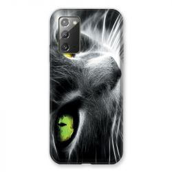 Coque pour Samsung Galaxy Note 20 Chat Vert