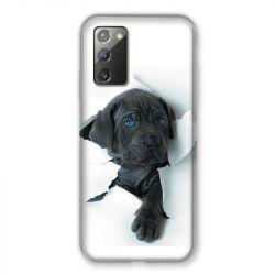 Coque pour Samsung Galaxy Note 20 Chien Noir