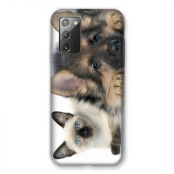 Coque pour Samsung Galaxy Note 20 Chien vs Chat
