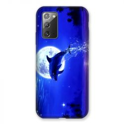 Coque pour Samsung Galaxy Note 20 Dauphin Lune