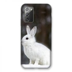 Coque pour Samsung Galaxy Note 20 Lapin Blanc