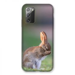 Coque pour Samsung Galaxy Note 20 Lapin Marron