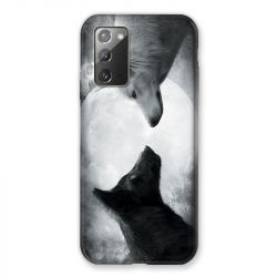 Coque pour Samsung Galaxy Note 20 Loup Duo