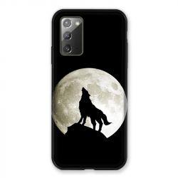 Coque pour Samsung Galaxy Note 20 Loup Noir
