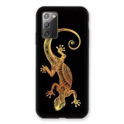 Coque pour Samsung Galaxy Note 20 Animaux Maori Lezard Noir