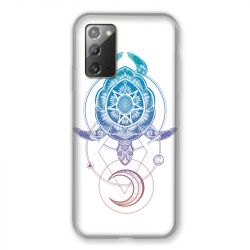 Coque pour Samsung Galaxy Note 20 Animaux Maori Tortue Color