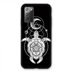 Coque pour Samsung Galaxy Note 20 Animaux Maori Tortue Noir