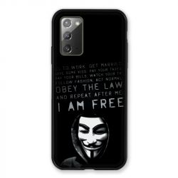 Coque pour Samsung Galaxy Note 20 Anonymous I am free