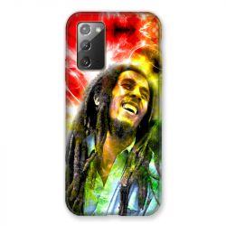 Coque pour Samsung Galaxy Note 20 Bob Marley Color