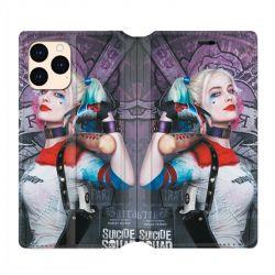 housse Cuir Portefeuille Pour Iphone 12 Mini Harley Quinn Batte
