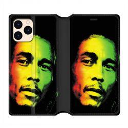 housse Cuir Portefeuille Pour Iphone 12 Mini Bob Marley 2