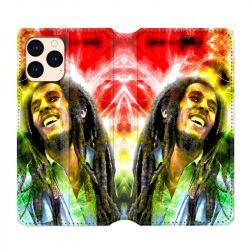 housse Cuir Portefeuille Pour Iphone 12 Mini Bob Marley Color