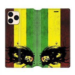 housse Cuir Portefeuille Pour Iphone 12 Mini Bob Marley Drapeau