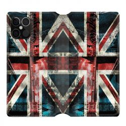 Housse cuir portefeuille pour Iphone 12 Pro Max Angleterre UK Jean's
