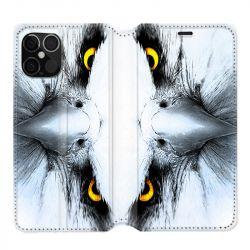 Housse cuir portefeuille pour Iphone 12 Pro Max Aigle Royal Blanc