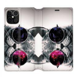 Housse cuir portefeuille pour Iphone 12 Pro Max Chat Fashion