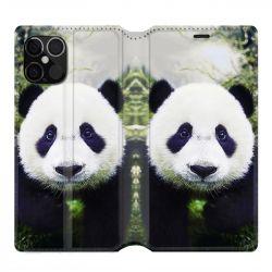 Housse cuir portefeuille pour Iphone 12 Pro Max Panda Color