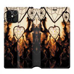 Housse cuir portefeuille pour Iphone 12 Pro Max Attrape Reve Noir