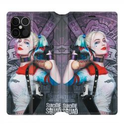 Housse cuir portefeuille pour Iphone 12 Pro Max Harley Quinn Batte