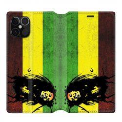Housse cuir portefeuille pour Iphone 12 Pro Max Bob Marley Drapeau