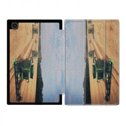 Housse Smart Cover Pour Samsung Galaxy Tab A7 (10.4) Agriculture Moissonneuse