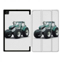 Housse Smart Cover Pour Samsung Galaxy Tab A7 (10.4) Agriculture Tracteur Blanc