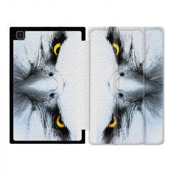 Housse Smart Cover Pour Samsung Galaxy Tab A7 (10.4) Aigle Royal Blanc