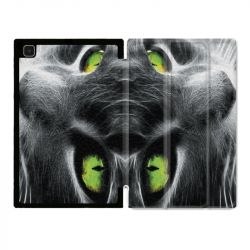 Housse Smart Cover Pour Samsung Galaxy Tab A7 (10.4) Chat Vert