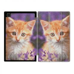 Housse Smart Cover Pour Samsung Galaxy Tab A7 (10.4) Chat Violet