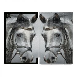 Housse Smart Cover Pour Samsung Galaxy Tab A7 (10.4) Cheval Blanc