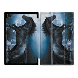 Housse Smart Cover Pour Samsung Galaxy Tab A7 (10.4) Cheval Noir
